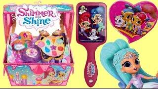 New! SHIMMER & SHINE Treasure Chest, Plush Doll, Hair Accesory Genie Leah, Princess Samira Toy /TUYC