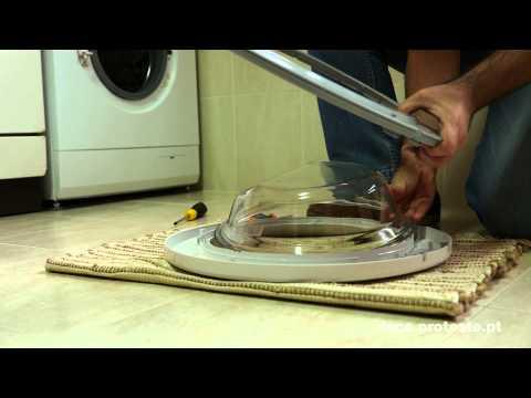 Máquina de lavar roupa como trocar o manípulo e as mangueiras