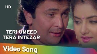 Teri Ummid Tera Intezar (HD) - Deewana Song - Rishi Kapoor - Divya Bharti - Filmigaane