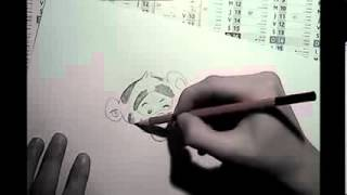 Speed Drawing Winnie the Pooh and Tigrou