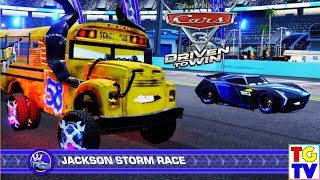 Cars 3 Driven to Win - Miss Fritter vs Jackson Storm Race