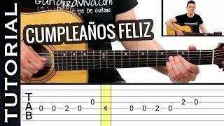 Como tocar FELIZ CUMPLEAÑOS en guitarra fácil MELODIA! MUY Fácil ! acústica