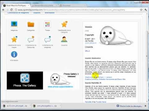 Componente Joomla para crear galerías de imágenes - Phoca Gallery