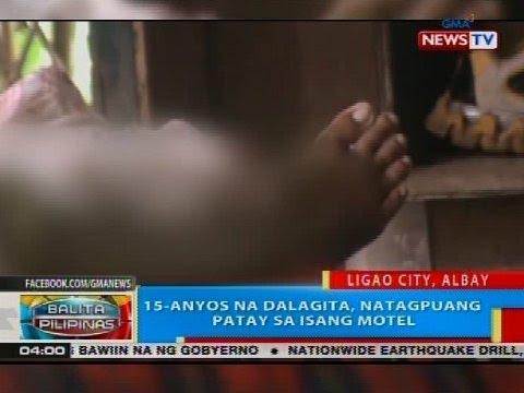 BP: 15-anyos na dalagita, natagpuang patay sa isang motel