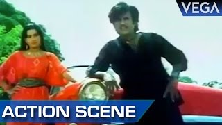 Rajinikanth Fights With Ambikas Bodyguard || Maaveeran Tamil Movie || Action Scenes