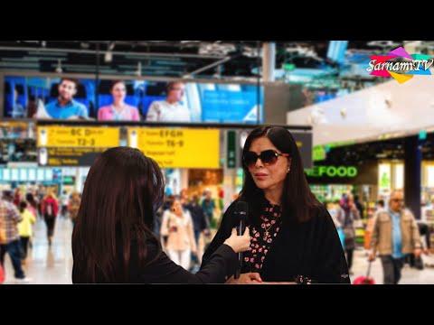 Zeenat Aman at Schiphol Airport in Amsterdam!