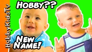 HobbyBabies Get New Names! HobbyPig Helps + Mickey Mouse T-Rex Monsters by HobbyKidsTV