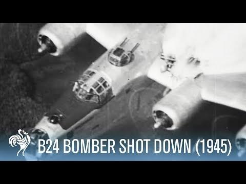 B24 Bomber Shot Down Incredible Footage