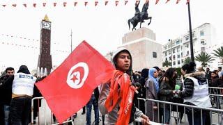احتجاجات في سيدي بوزيد في الذكرى السابعة للثورة التونسية
