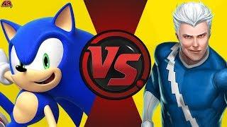 Sonic VS Quicksilver! Cartoon Fight Night Episode 12!