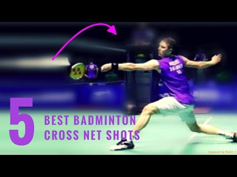 TOP 10 BEST BADMINTON CROSS NET SHOTS