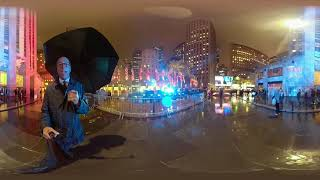 360 Video: Lester Holt shows us around Democracy Plaza at Rockefeller Center