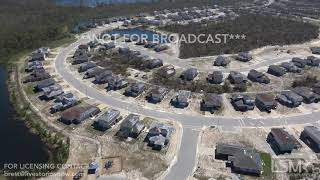 10 12 18 Allanton, FL and HWY 98 Aerial Scenes Of RV Park & Homes Destroyed  Whole Forest Destroyed