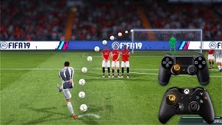 FIFA 19 ALL FREE KICKS TUTORIAL | TRIVELA, KNUCKLEBALL,POWER, RABONA !