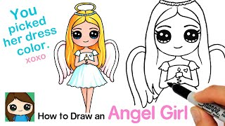 How to Draw an Angel Cute Girl