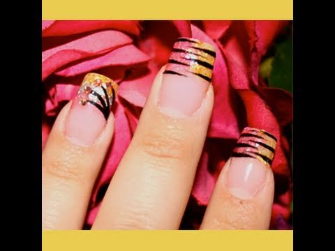 ★ Exotic Stripe Nails ★