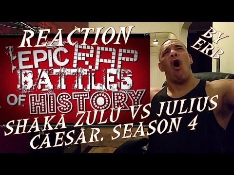 Shaka Zulu vs Julius Caesar. Epic Rap Battles REACTION