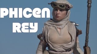 ✓ Custom Phicen Hot Toys Star Wars The Force Awakens Rey 1/6 scale figure