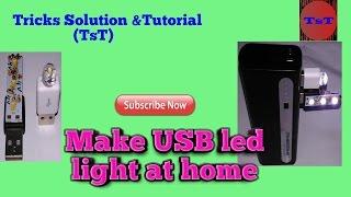 How to make USB LED light /Make Powerful USB Led Light at home/DIY Project