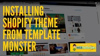 Shopify Themes from Template Monster - Watch Me INSTALL a Theme!
