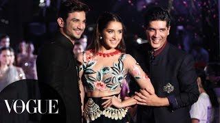 Shraddha Kapoor & Sushant Walk for Manish Malhotra | Lakmé Fashion Week 2016 - Day 1 | VOGUE India
