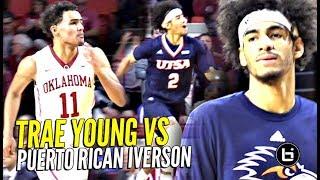 Trae Young vs Puerto Rican Iverson!! Both BALLIN IN COLLEGE! Oklahoma vs UTSA Highlights