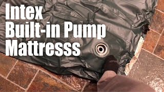 Intex Downy Twin-sized Airbed Inflatable Mattress with Built-in Foot Pump review