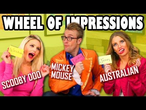 Wheel of Impressions Jenn vs Weston vs Lindsey. Totally TV