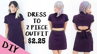 Thrifted Revamp: Dress Into Simple Open Back 2 Piece