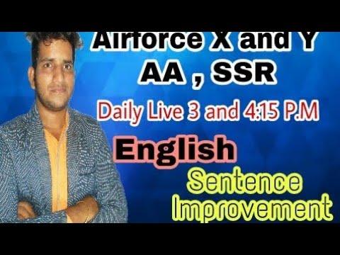 Xxx Mp4 AIRFORCE X AND Y LIVE CLASS ENGLISH SENTENCE IMPROVEMENT AB AAYEGA MAJA 3gp Sex