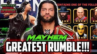 WWE MAYHEM THE GREATEST ROYAL RUMBLE MATCH! NEW 4 STAR RANKED UP!!!