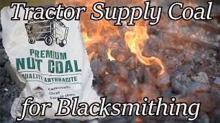Tractor Supply Coal - Does it work? Blacksmithing | Iron Wolf Industrial