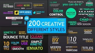 Best CREATIVE  styles Lower third & Titels - Free Download After Effects Template By Suneel Design