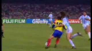 Hagi and Maradona fouling each other (WC 90)