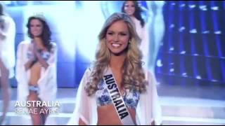 Miss Universe 2012 Top 10 Announcement HD