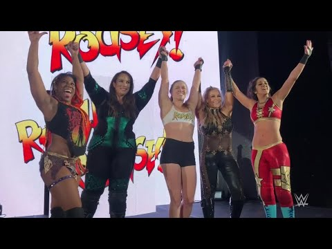 Xxx Mp4 Ronda Rousey Gets Rowdy Alongside Nia Jax At WWE Live Event WWE Exclusive July 9 2018 3gp Sex