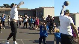 DeMarcus Cousins PUNKS Little Kids On Basketball Court!