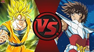 GOKU vs SAINT SEIYA! (Dragon Ball Z vs Knights of the Zodiac) Cartoon Fight Club Episode 165