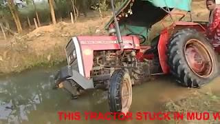Massey Ferguson 1035 stuck in River Live Open Challenge Video,2017