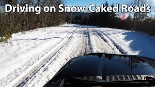 Driving on Snow-Caked Roads - Winter Storm 2018