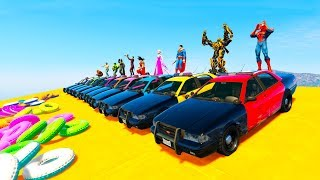 POLICE CARS COLOR RACE SUPERHERO LEARN NUMBERS cartoon for kids and babies
