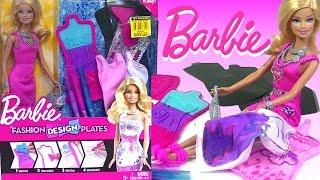 BARBIE Fashion Design Plates Design Your Own Barbie Doll Dress - Kids' Toys