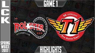 KT Rolster vs SKT Highlights Game 1 - LCK Week 6 Day 3 Spring 2017 - KT vs SKT G1