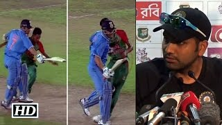 Dhoni-Mustafizur on-field collision: Rohit Sharma Reacts
