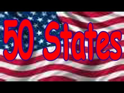 watch 50 States Song (rhyming and in alphabetical order) Children's Song by THE LEARNING STATION