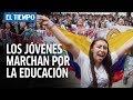 Download Video Download Marcha masiva de estudiantes en Bogotá   EL TIEMPO 3GP MP4 FLV