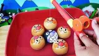 魚釣りアンパンマンで水遊び❤アニメ&おもちゃ Toy Kids トイキッズ animation anpanman