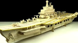 How to Make Popsicle Stick Aircraft Carrier