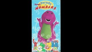 Barney's Parade of Numbers 1998 VHS