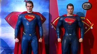 HOT TOYS SUPERMAN COMPARISON. MOS VS BvS